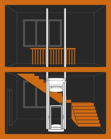 Liftman – instalace ve schodišti