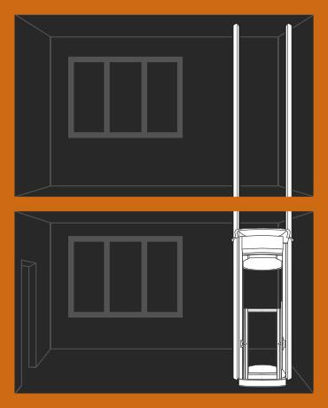 Liftman – instalace skrze strop